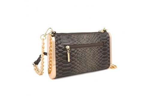 Peach Accessories CD4620 Black Clutch/Black Suede