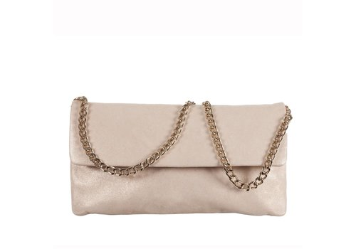 Le Babe Le Babe Luce Gold Flap-over bag