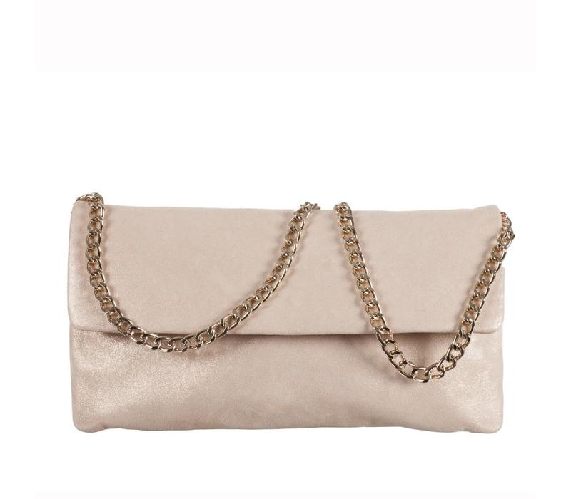 Le Babe Luce Gold Flap-over bag