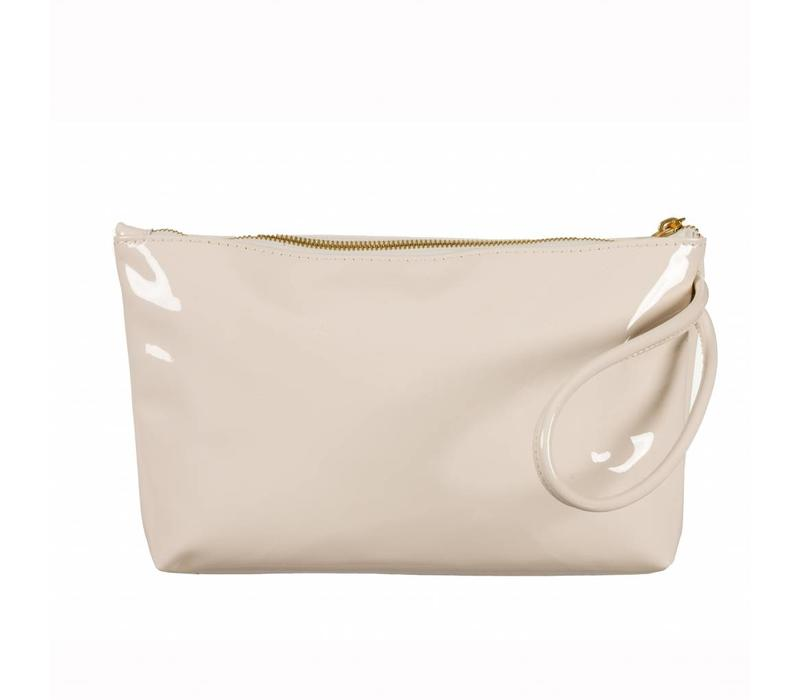 Le Babe Cream Patent Ziptop bag