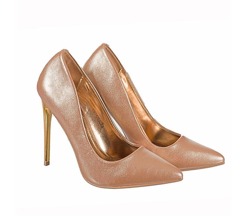 2562-1 Rose Gold Hi Heels