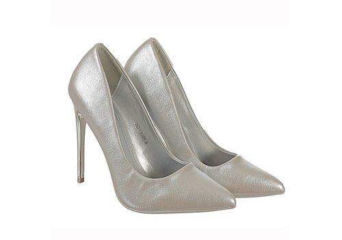 Valentino Conte 2562-1 Silver Hi Heels