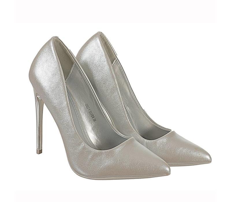 2562-1 Silver Hi Heels