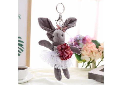 Peach Accessories B3 Lucky Bunny keyring