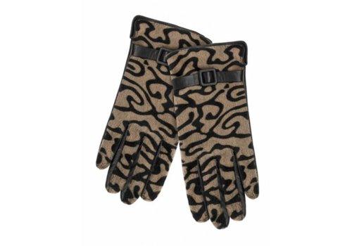 Pia Rossini Animal print NIKKO leather gloves