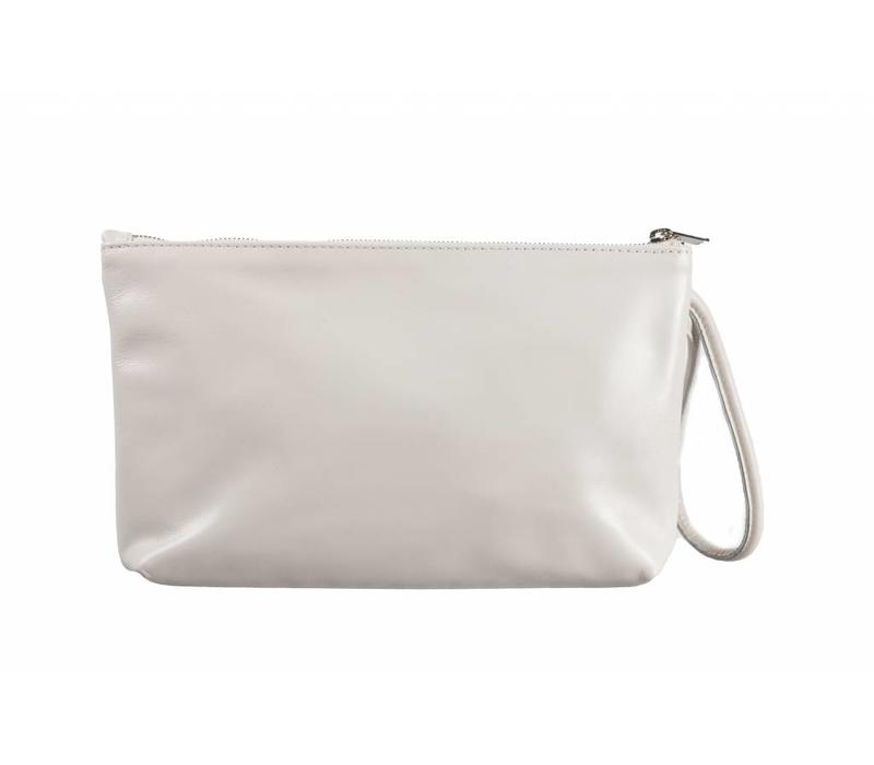 Le Babe Bag Cream Leather Zip top
