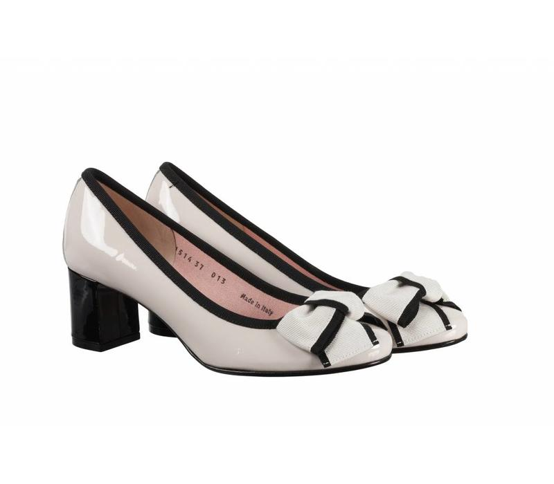 Le Babe 1514 Cream/Black Vernice