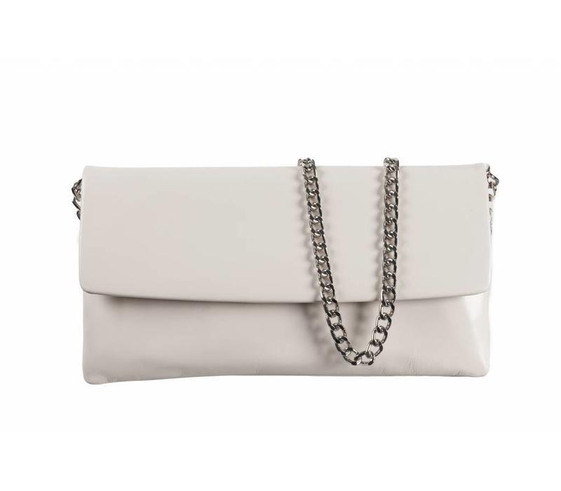 Le Babe Bag Cream Leather Flapover