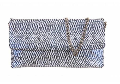 Le Babe Le Babe Bag Navy Lattice flapover