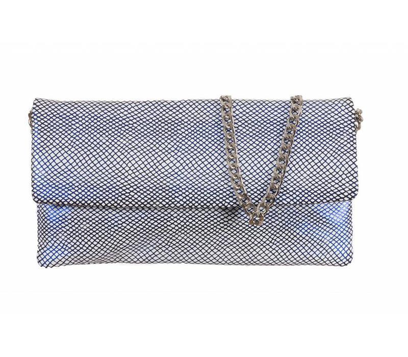 Le Babe Bag Navy Lattice flapover