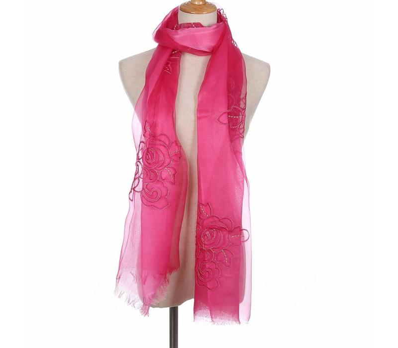 JS01-4 Silk Floral Wrap