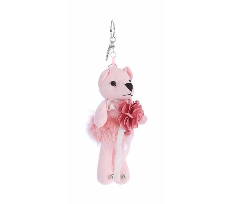 B4 Pink Bear keyring