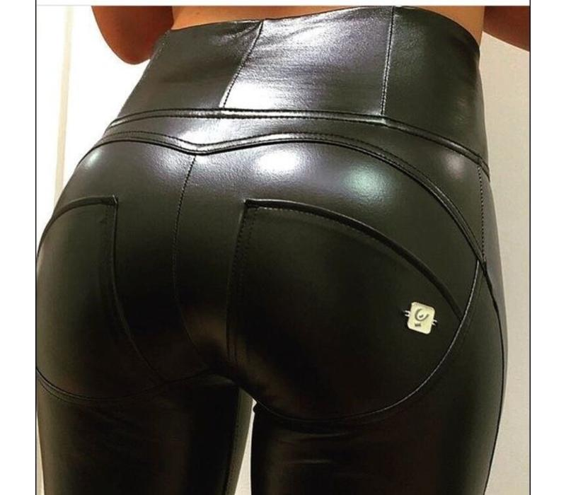 WRUP1HX01E_N High Waist Faux Leather