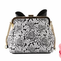 Peach SO81 Floral Print with bow