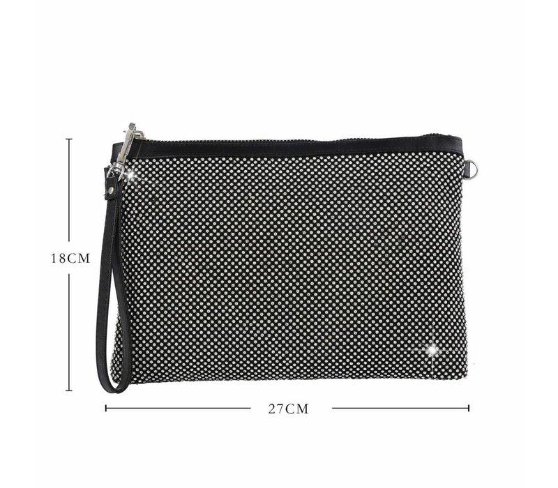 Peach 5502 Black Diamanté