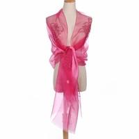 Peach JS01-4 Silk Floral Wrap Fuchsia