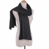 Peach SD17 Black Wool Scarf