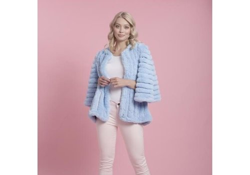 Jay Ley FMSUCT465A Blue Faux Fur striped Jacke