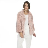 FF5019A Pink Faux Fur Jacket
