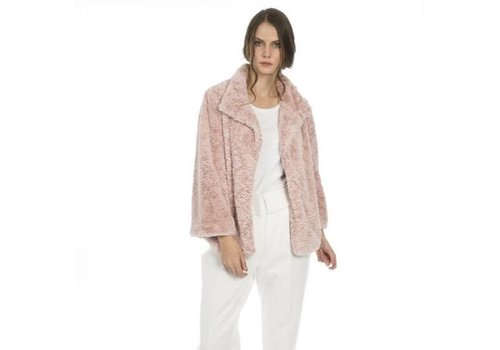 Jay Ley FF5019A Pink Faux Fur Jacket