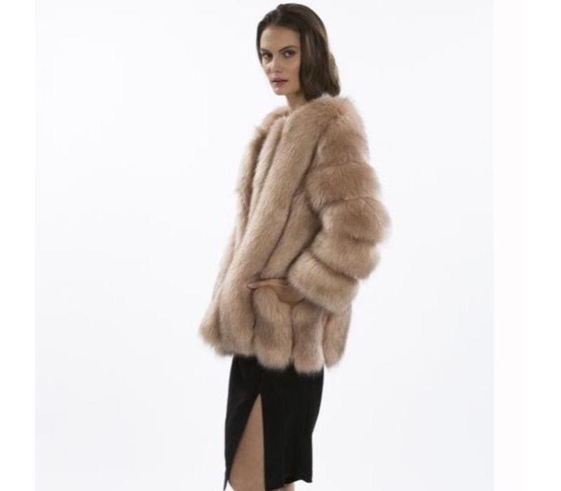 FMCT69A-06 Faux Fur Pink Jacket