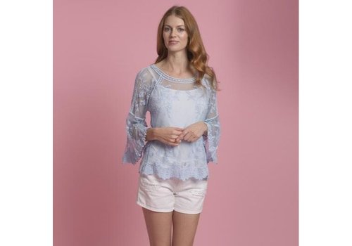 Jay Ley CYM12A-07S Vintage Lace Top Blue