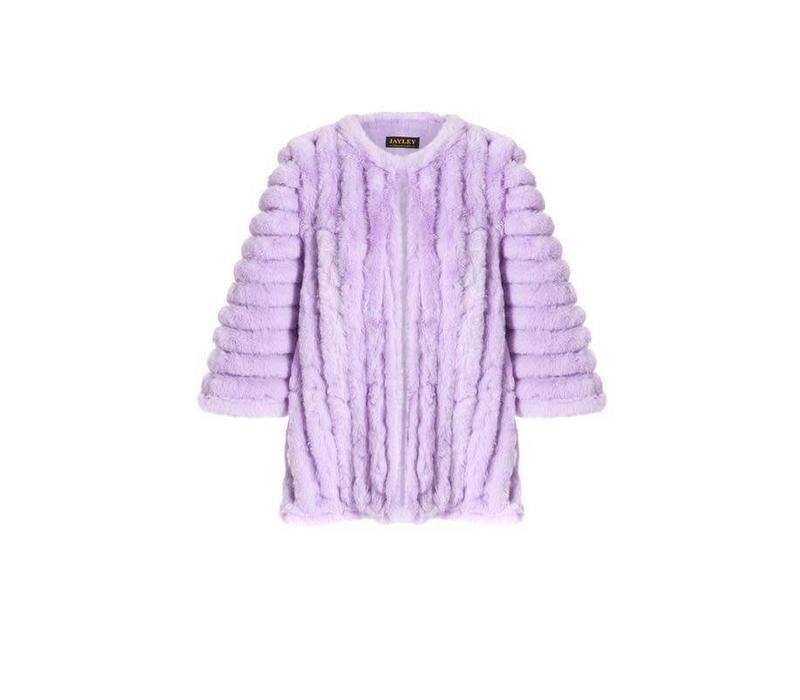 FMSUCT465A-05 Lilac Faux Fur Jacket