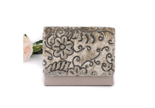 Peach Accessories 11182 Beige Clutch