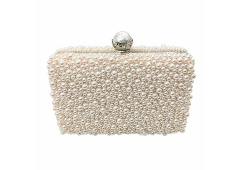 Peach Accessories 8177  Blush Pearl Clutch