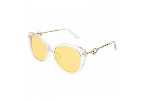 Peach Accessories 1243 Clear Lemon Sunglasses