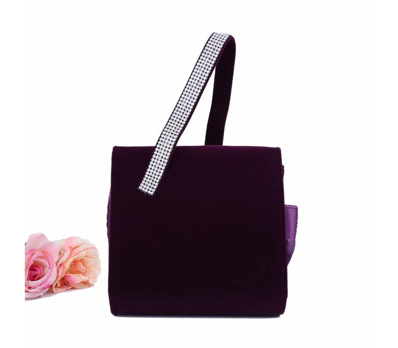 202334 Purple Velvet Bag
