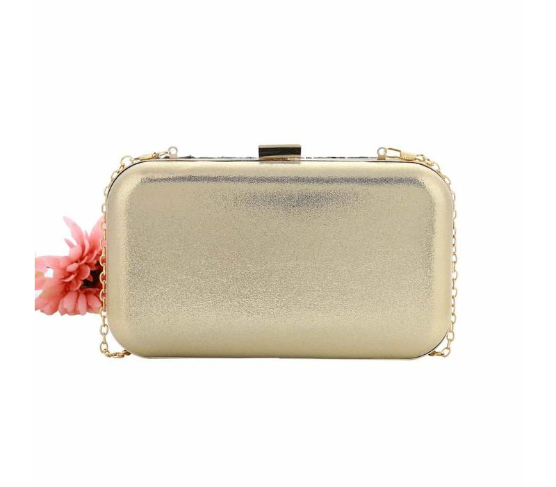 202347 Gold/Grey Clutch