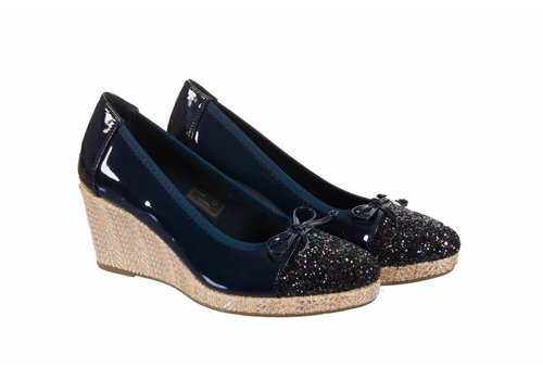 Milly & Co. 322709 Navy Patent Wedge