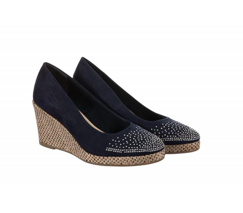 392713 Navy Suedette Wedge
