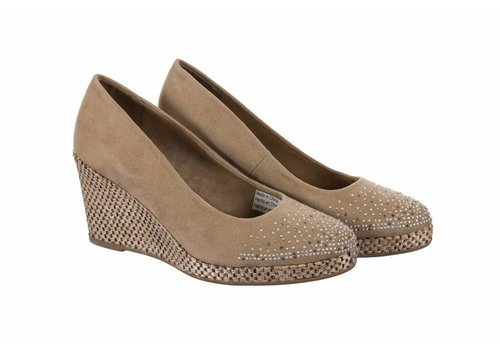 Sprox 392713 Taupe Suedette Wedge