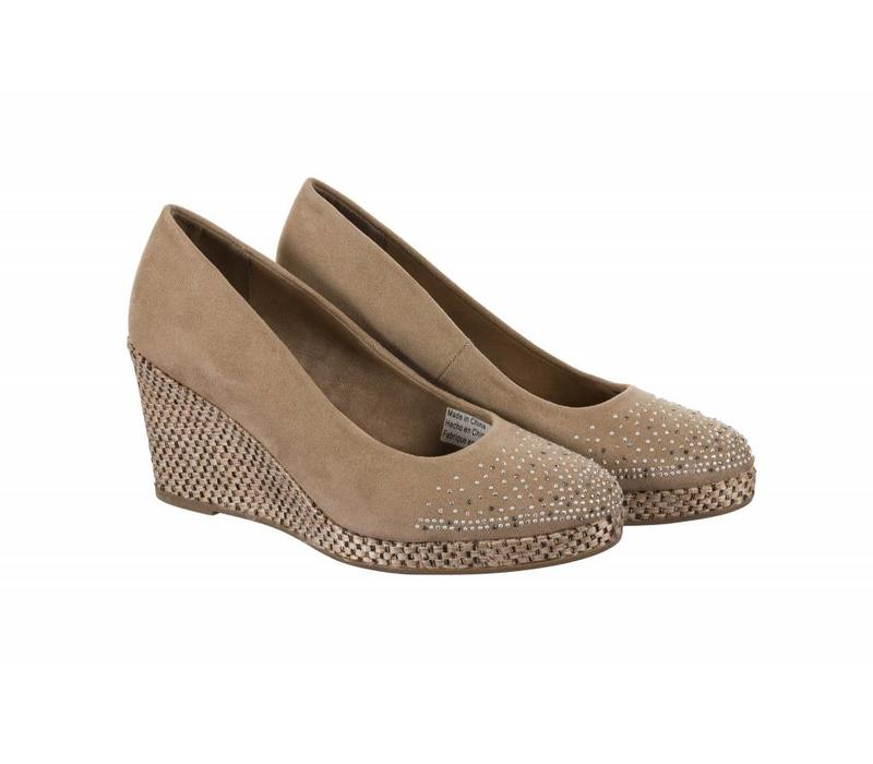 392713 Taupe Suedette Wedge
