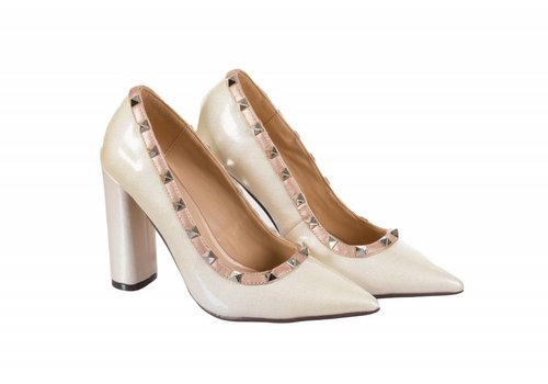 Glamour VALENTINA White/Nude Rock Stud