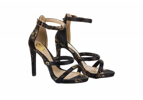 Milly & Co. SKYE Black/Floral Sandals