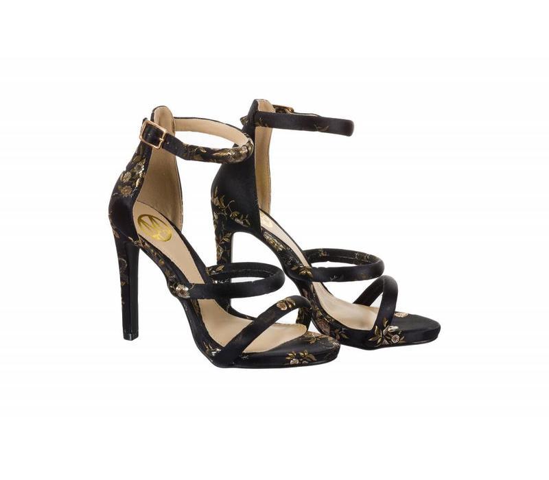 SKYE Black/Floral Sandals