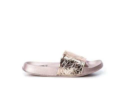 BASS3D BASS3D 41520 Nude Metallic Sandals