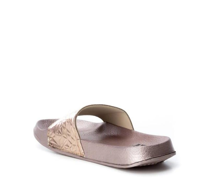 BASS3D 41520 Nude Metallic Sandals