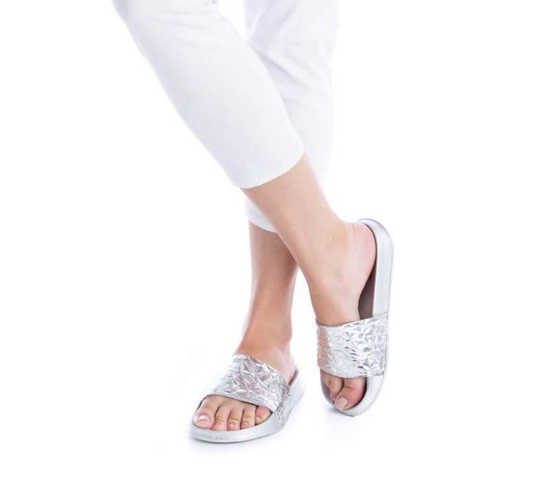 BASS3D 41520 Silver Metallic Sandals