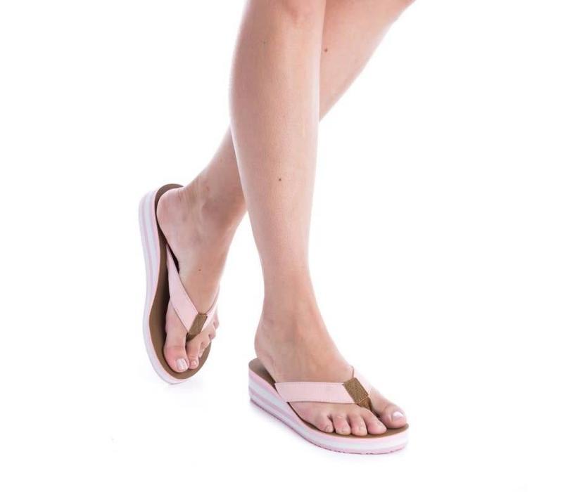 BASS3D 41523 Nude Flip flops