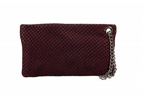 Le Babe Le Babe Luce Bordeaux Honeycomb Zip Top Bag