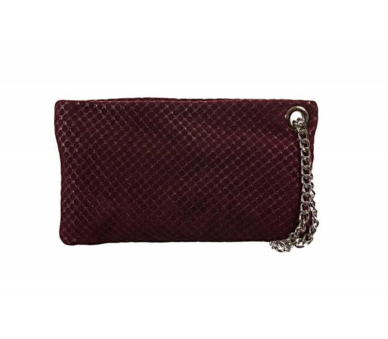 Le Babe Luce Bordeaux Honeycomb Zip Top Bag