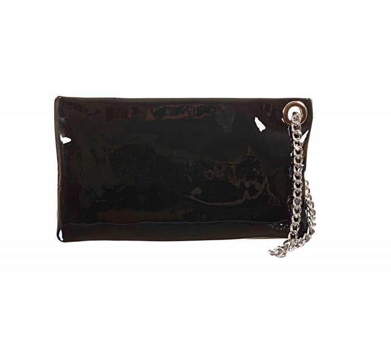 Le Babe Vernice Nero Zip Top Bag