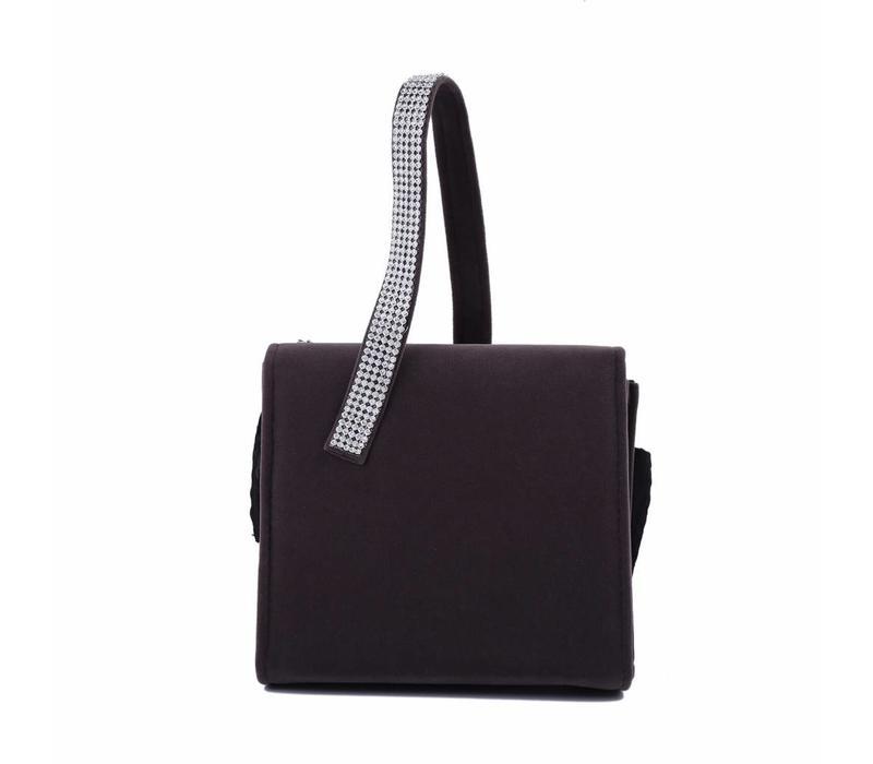 202334 Grey Velvet Bag