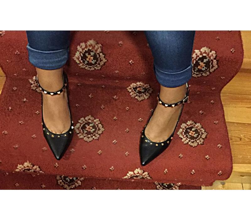 Lodi RAIMON-TP Black Studded Shoe