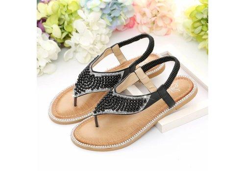 Peach Accessories E8678-1 Black Sandals