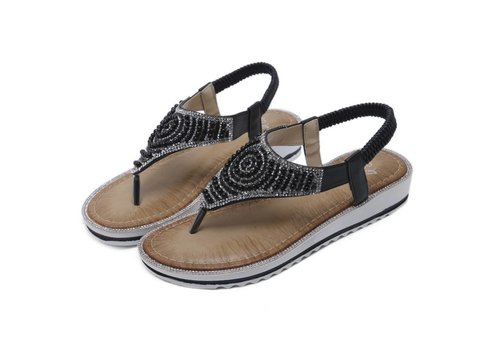 Peach Accessories E3358-D2 Black Sandals